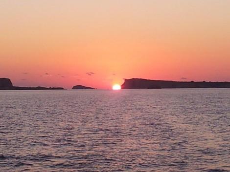 Puesta de sol desde Cafe del Mar