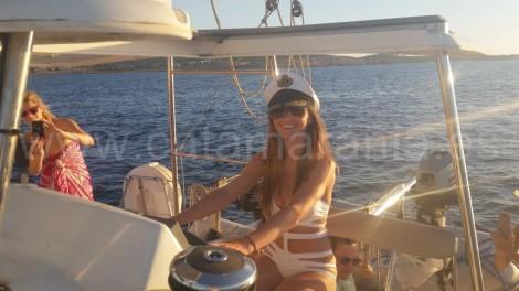 capitana de barcos de charter ibiza